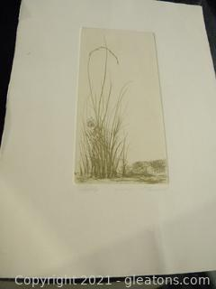 """Hilltop"" Etching Print"