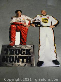 Pair of NASCAR Cardboard Stand Ups