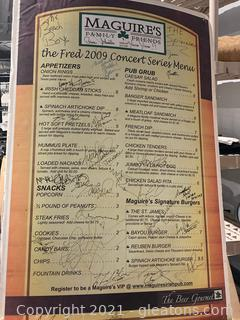 "Poster Size ""Maguires Menu"" Signed and Autographed by Multiple People"