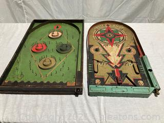 "Lindstorm Tod & Toy Company ""Rocket Shot"" Game and Pinball Game"