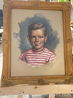 Beautiful Oil Painting of Sweet Little Boy