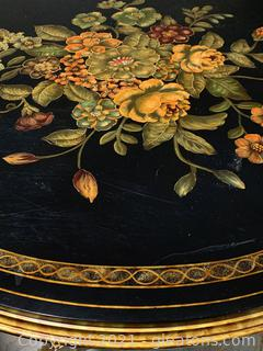 Charming Maitland Smith Hand Painted Foyer Table