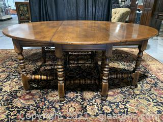 Lovely Theodore Alexander Drop Leaf Dining Table