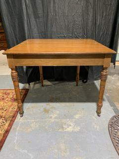 Antique Hinged-Top Folding Leaf Table
