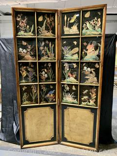 Refined Hand Painted Window Panel Screen