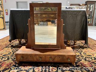 Lovely Antique Dressing/Shaving Table Top Mirror
