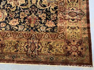 Exquisite, Vibrant, Hand Knotted Area Rug 9x13