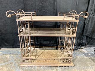 Iron Tea Cart-Plant Stand-Rustic Bar Cart - Nice