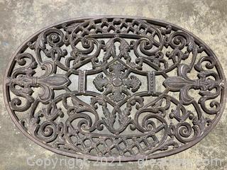 Wrought Iron Oval Door Mat