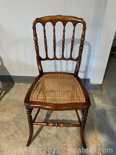 Precious Spindle Back Antique Cane Chair