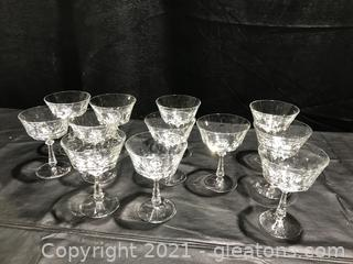 Crystal French Champagne or Sherbet Stems