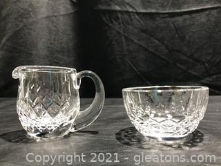 Set of Waterford Crystal Cream and Sugar