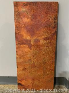 Copper Covered Panel Shelf/Table Top/Wall Art