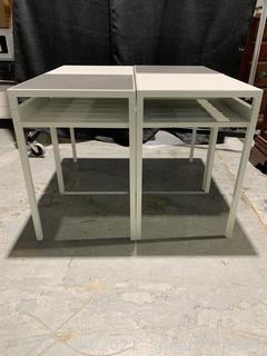 4 Modern Reversible Top Accent Tables