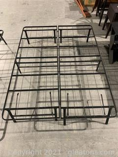 Black Metal Queen Bed Frame/Camping Cot