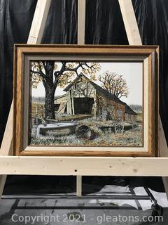 H. Hargrove Old Barn in Fall