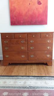 Vintage Ethan Allen Baumritter 8 Drawer Dresser