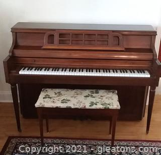 Lovely W.H Kimball Co. Upright Piano with Bench
