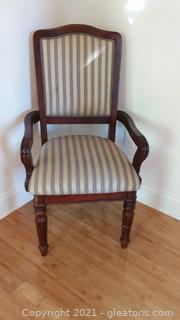 Cute Ashley Furniture Upholstered Mahogany Finish Armed Chair
