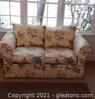 2 Person Lane Floral Upholstery Loveseat