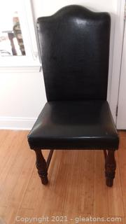 One Black Parsons Style Upholstered Dining Room Side Chair