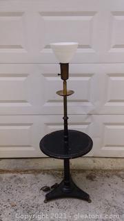 Mid Century Tray Table Floor Lamp