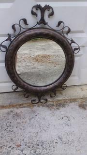 Decorative Metal Frame Mirror