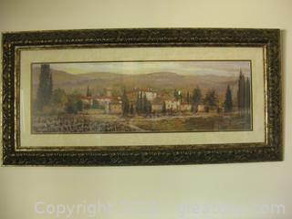 Framed Print of The Italian Countryside by Joe Sambataro