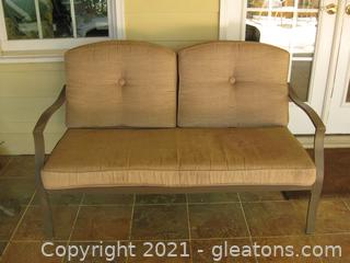 Two-Seat Outdoor Cushioned Loveseat
