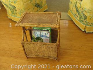 Bamboo Magazine Holder- End Table Combo