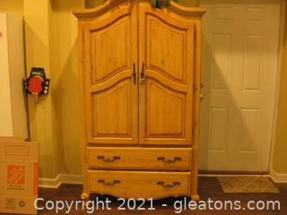Pine/Washed Armoire Does not Include Contents