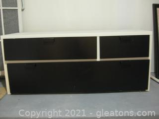 Ikea Black & White 3-Drawer Storage Unit