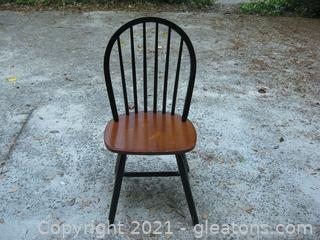 Wooden Spindle-Back Dining Chair