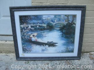 Canvas Lithograph of Paris Cityscape, Signed by Artist, Christa Keffer