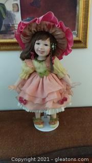 "Cheerful 21"" Porcelain Doll"