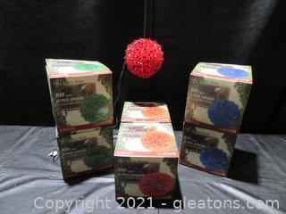 "Six GE Holiday Classics 6"" Super Spheres"