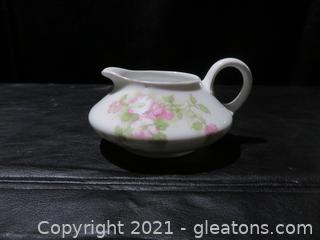 J and C Trianon Bavaria Creamer Pink Flowers Nuremburg Imperial China