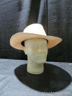 Vintage Men's Hat from Hats Plus of Chicago - Straw Hat- Size 7⅞