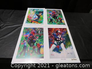 Lot of 4 Winford Art Prints, Signed By The Artist, COA