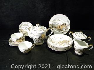 Handpainted Japanese Tea Set