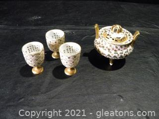 Japanese Incense Holder and Cups