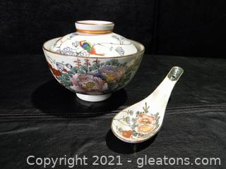 Japanese Miso Soup Bowl and Spoon Set