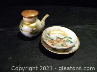 Tiny Japanese Tea Set