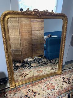 Fabulous Gold Framed Large Beveled Mirror