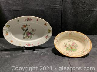 Pretty in Peacock, Serving Pieces (Lot of 2)