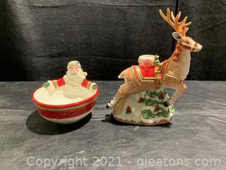 Holiday Fitz & Floyd Decor (Lot of 2)