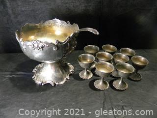 Miyata Punch Bowl and Goblets