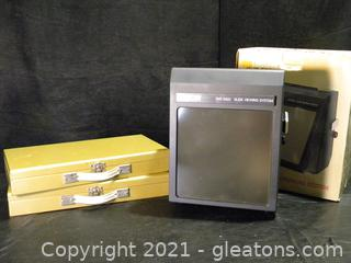 Simon Slide Viewing System and Case Storage