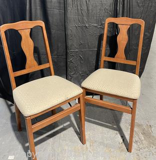 2 Folding Dinner Table Chairs
