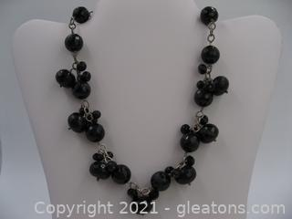 Barse Onyx Necklace in Sterling Silver